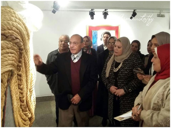 f354b23e8 افتتاح معرض الفنان/ عبد السلام عيد رؤى من خامات ووسائط مختلفة