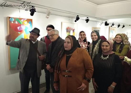 4c307b16a صور افتتاح معرض الأخوين وانلي (من التشخيص إلى التجريد بمركز محمود سعيد  للمتاحف بالإسكندرية)